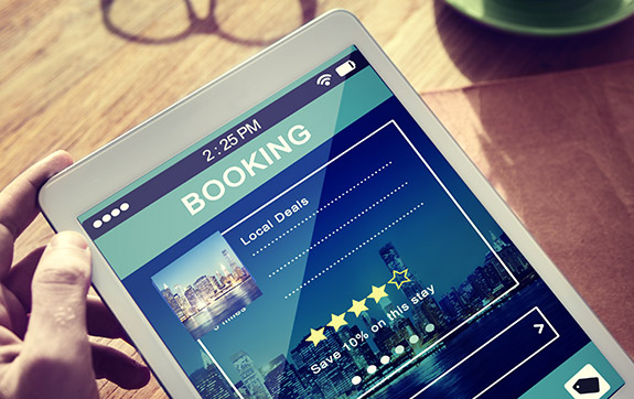 Online booking portal for reservation